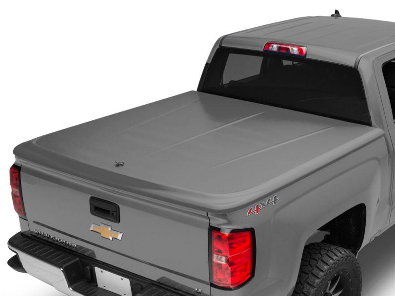 UnderCover LUX Hinged Tonneau Cover - Unpainted (14-18 Silverado 1500 w/ Short & Standard Box)
