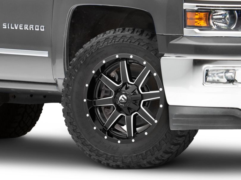 Fuel Wheels Maverick Gloss Black Milled 6-Lug Wheel - 20x9 (99-20 Silverado 1500)