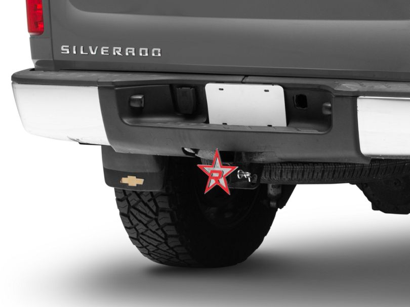 RBP Chrome/Red Star Hitch Cover (Universal Fitment)