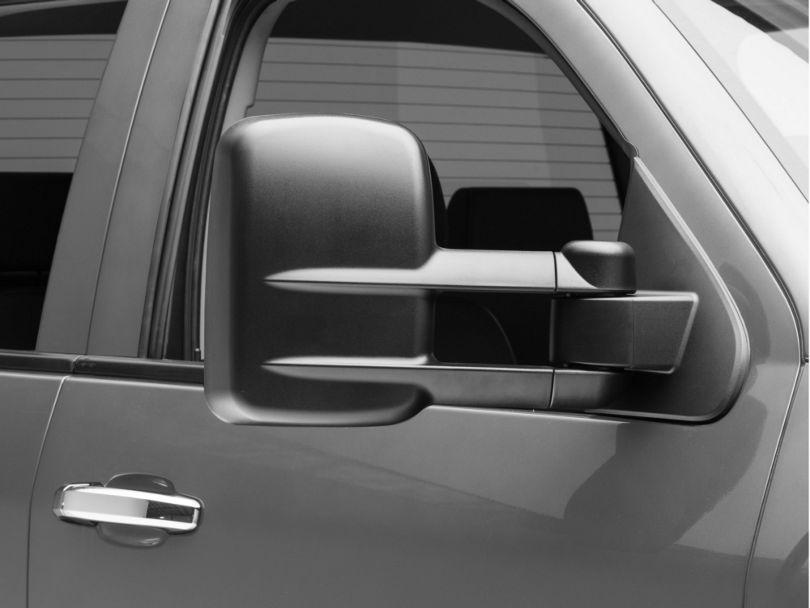OPR Powered Heated Foldaway Telescopic Towing Mirror - Textured Black (14-18 Silverado 1500)
