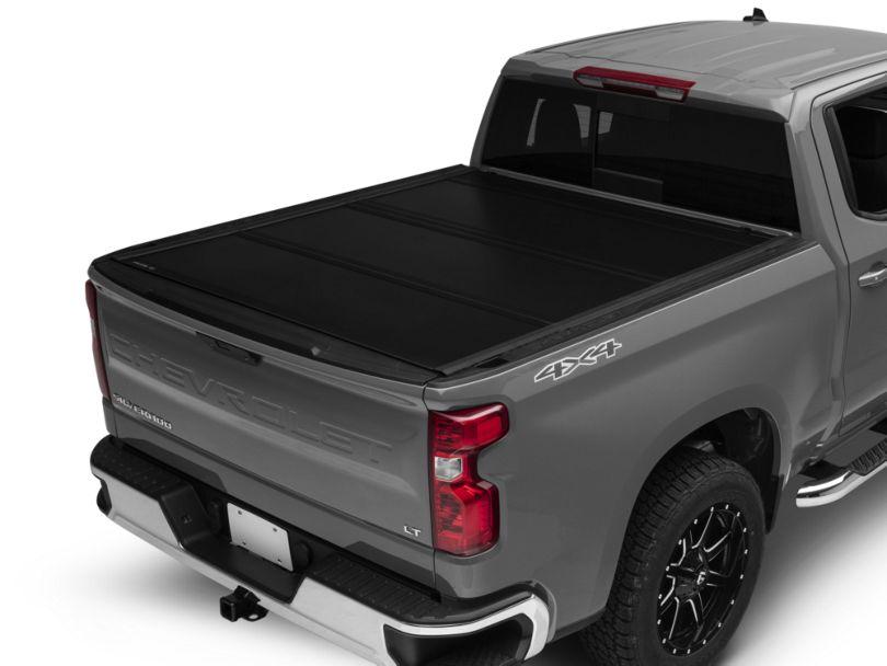 UnderCover Ultra Flex Tri-Fold Tonneau Cover - Black Textured (19-20 Silverado 1500 w/ Short & Standard Box)
