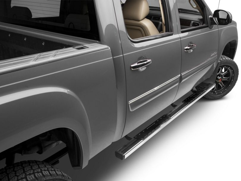 Barricade T4 Rocker Mount Side Step Bars - Stainless Steel (07-13 Sierra 1500 Extended Cab, Crew Cab)