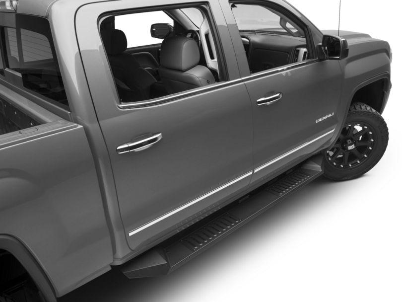 Barricade HD Steel Running Boards - Black (14-18 Sierra 1500 Crew Cab)