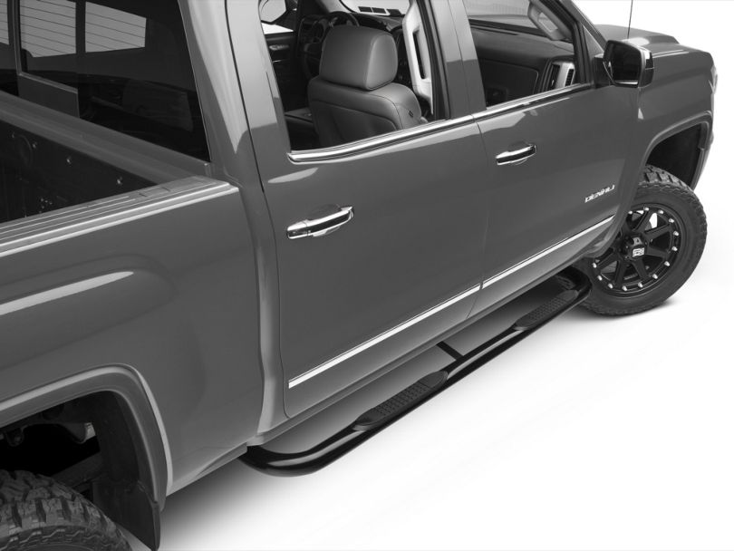Barricade 3 in. Body Mount Side Step Bars - Black (14-18 Sierra 1500)