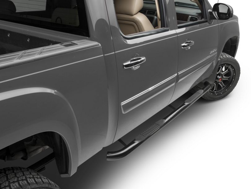 Barricade 3 in. Rocker Mount Side Step Bars - Black (07-13 Sierra 1500)