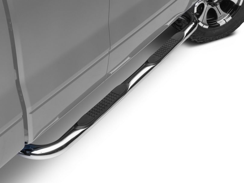 Barricade 3 in. Side Step Bars - Stainless Steel (09-14 F-150)