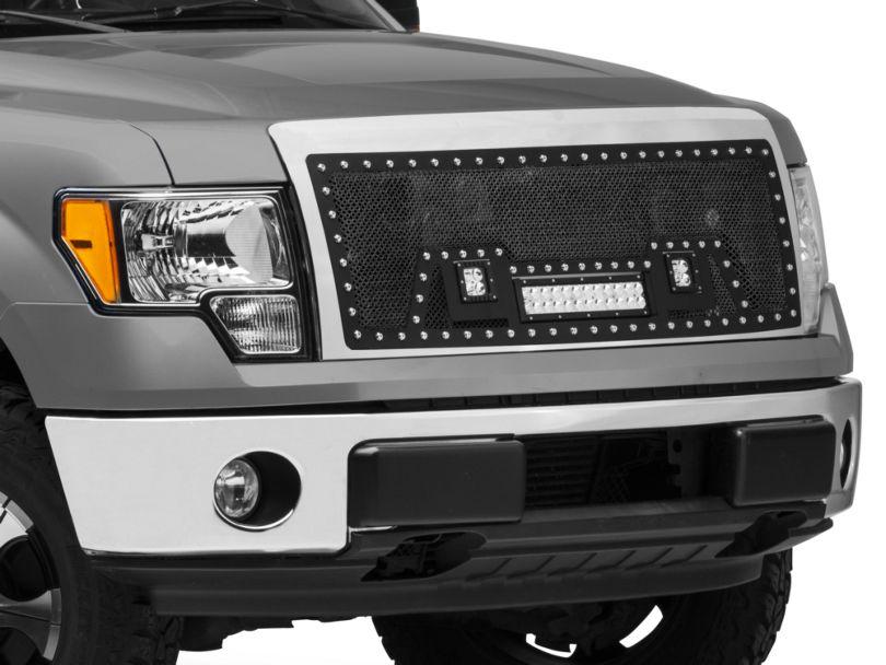 SpeedForm Stainless Steel Upper Grille Insert w/ LED Lights - Black (09-14 F-150, Excluding Raptor)
