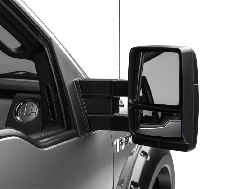 Manual Towing Mirrors; Black (04-14 F-150)
