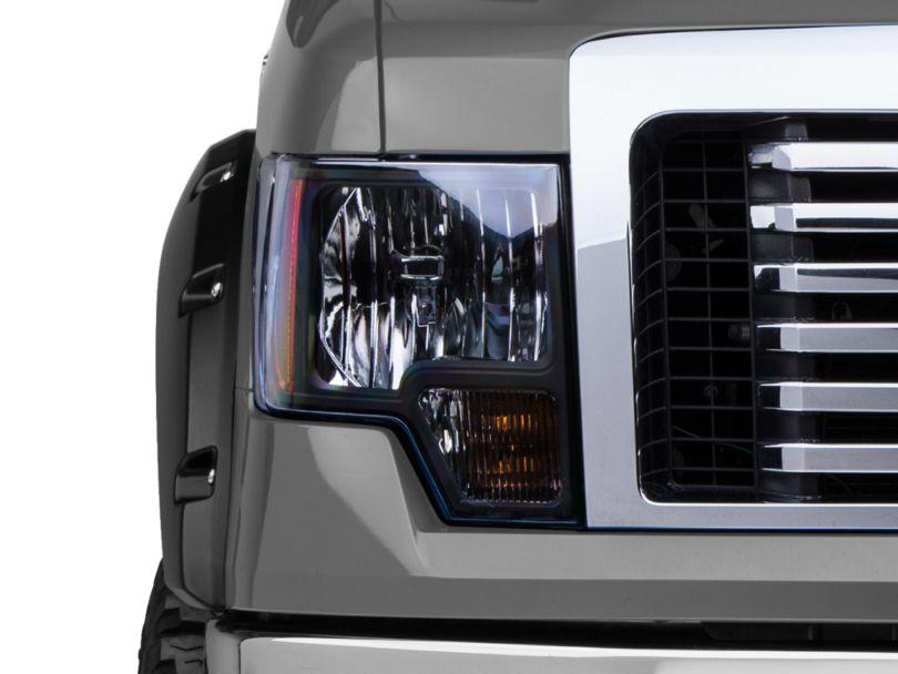Euro Headlights; Smoked (09-14 F-150 w/o Factory HID Headlights)