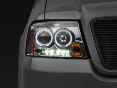 Axial Chrome Dual Halo LED Projector Headlights (04-08 F-150)
