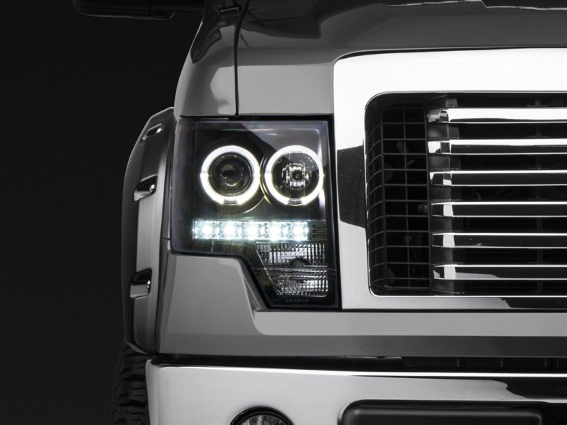 Axial Black Projector Headlights w/ Halo (09-14 F-150 w/o Factory HID)