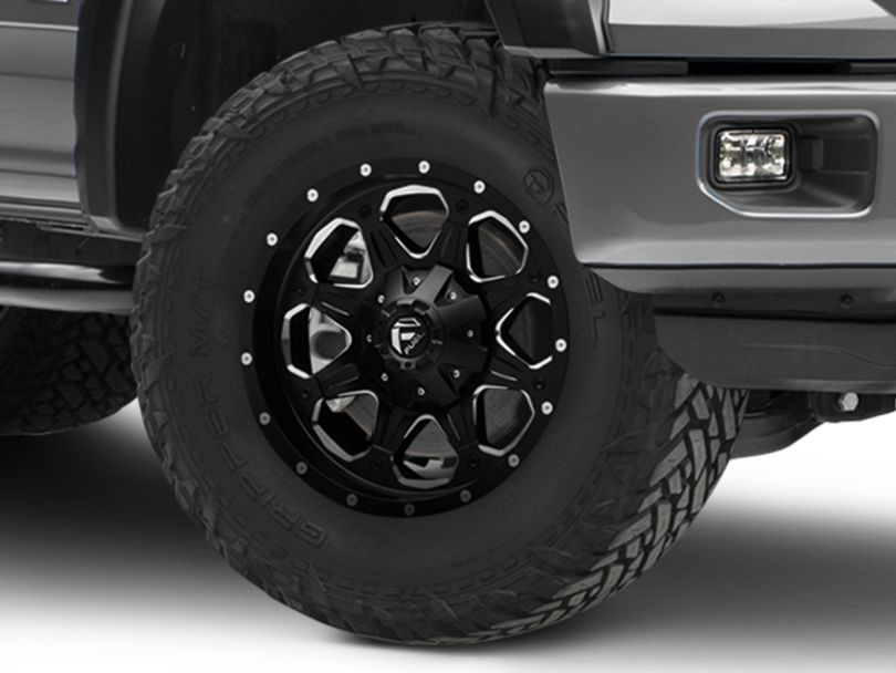 Fuel Wheels Boost Matte Black Milled 6-Lug Wheel; 18x9 (15-20 F-150)