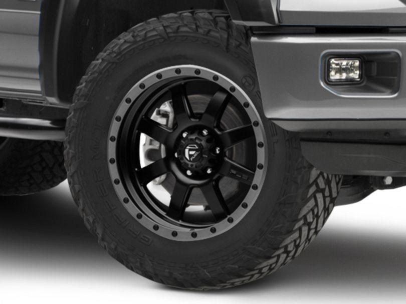 Fuel Wheels Trophy Matte Black w/ Anthracite Ring 6-Lug Wheel - 20x9 (15-19 F-150)