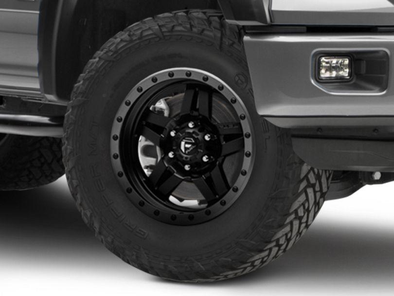 Fuel Wheels Anza Matte Black w/ Anthracite Ring 6-Lug Wheel; 18x9 (15-20 F-150)