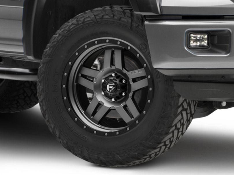 Fuel Wheels Anza Matte Black w/ Anthracite Ring 6-Lug Wheel; 20x9 (15-20 F-150)