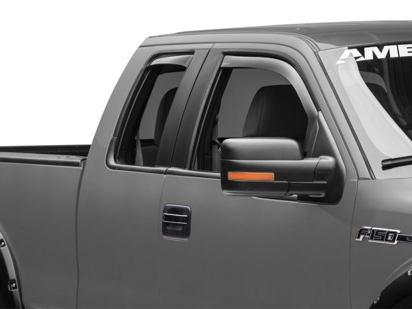 Weathertech Front & Rear Side Window Deflectors - Dark Smoke (09-14 F-150 SuperCab, SuperCrew)