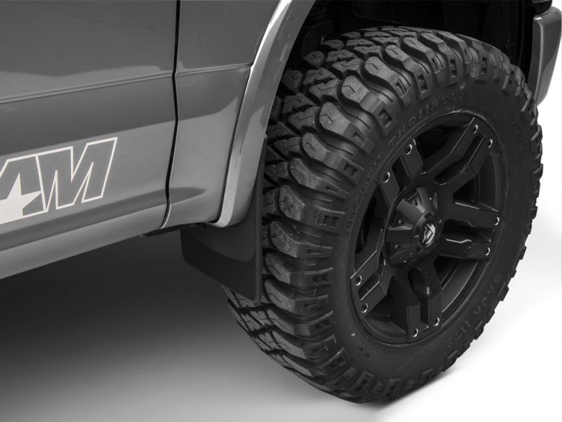 Weathertech No Drill Front Mud Flaps; Black (15-20 F-150, Excluding Raptor)