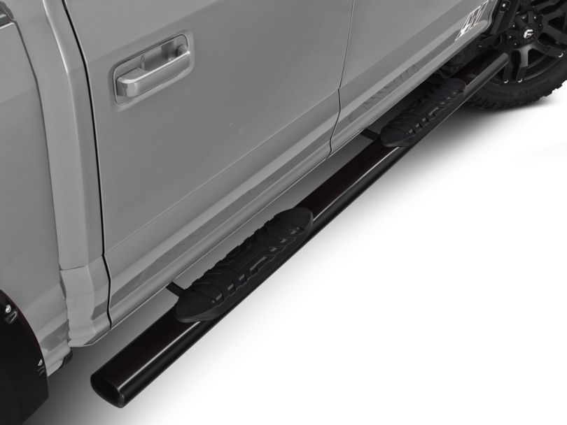 Barricade 5 in. Oval Straight End Side Step Bars - Black (15-20 F-150)