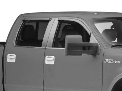Front & Rear Window Visors - Matte Black (09-14 SuperCrew)