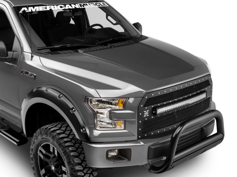 SEC10 Hood Decal; Matte Black (15-20 F-150, Excluding Raptor)