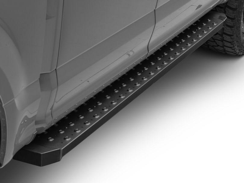 Barricade Rattler Steel Running Boards - Black (15-20 F-150)