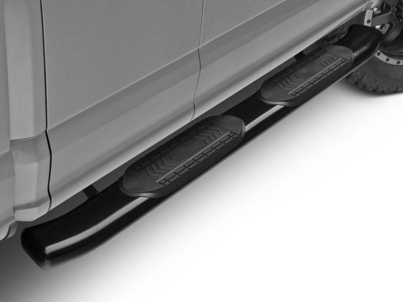 Duratrek 6 in. Oval Bent End Side Step Bars - Black (15-20 F-150 Regular Cab, SuperCab)