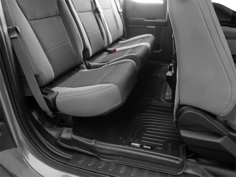 Husky X-Act Contour 2nd Seat Floor Liner - Black (15-19 F-150 SuperCab, SuperCrew)