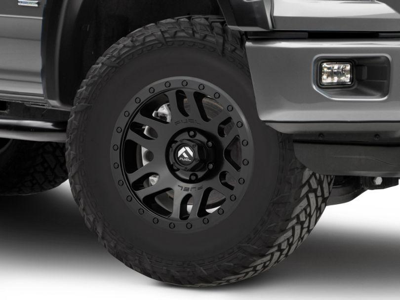 Fuel Wheels Recoil Matte Black 6-Lug Wheel; 17x8.5; 7mm Offset (15-20 F-150)