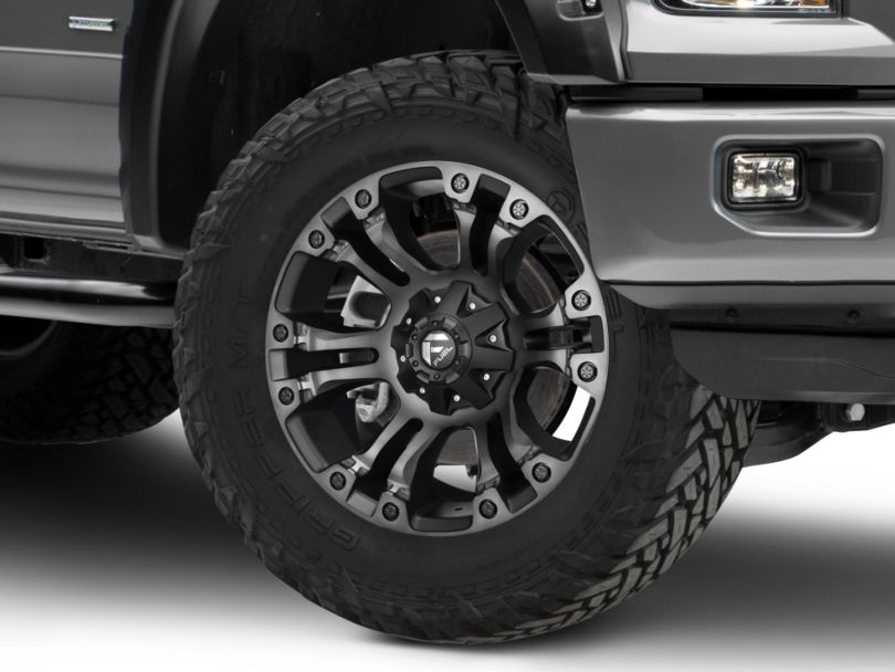 Fuel Wheels Vapor Black Double Dark 6-Lug Wheel; 18x9 (15-20 F-150)