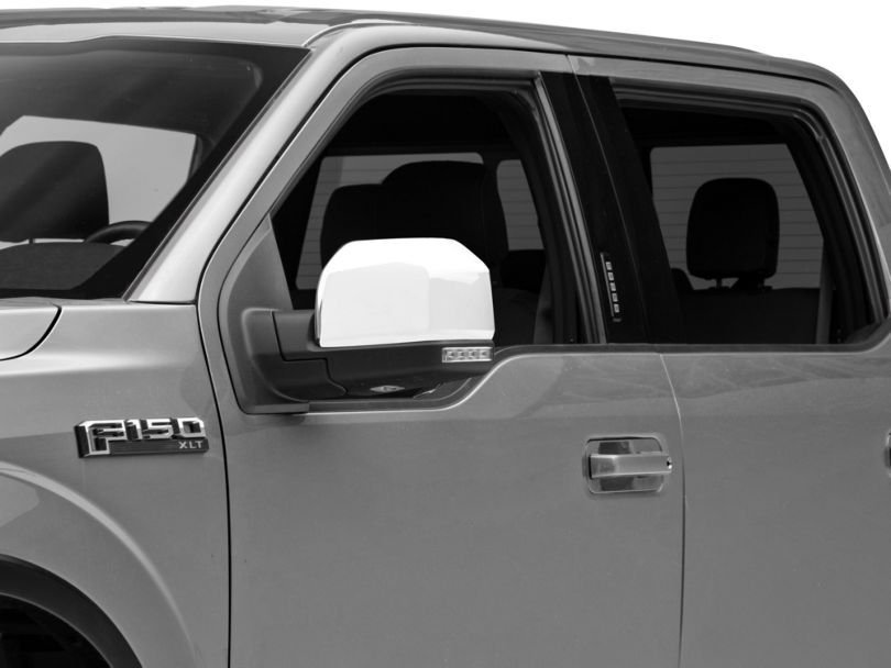 Chrome Mirror Covers - Skull Cap Replacement (15-20 F-150 w/ Standard Mirrors)