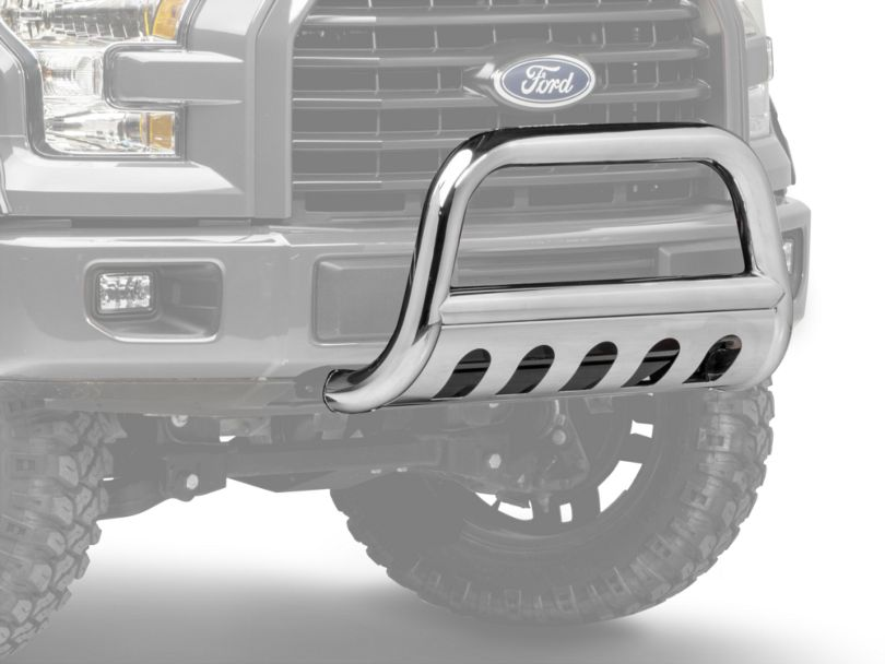 Barricade 3 in. Bull Bar w/ Skid Plate - Stainless Steel (04-19 F-150, Excluding EcoBoost & Raptor)