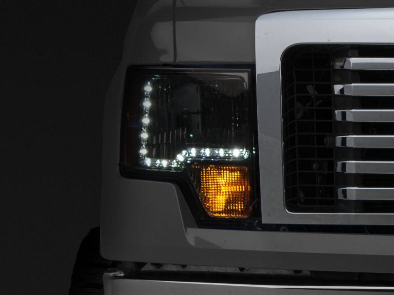 Axial Amber Crystal LED Headlights - Smoke (09-14 F-150 w/o Factory HID)