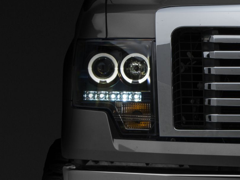 Black Projector Headlights w/ LED Halo (09-14 F-150 w/o Factory HID)