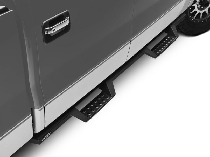 HDX Drop Nerf Side Step Bars - Textured Black (09-14 F-150 SuperCrew)