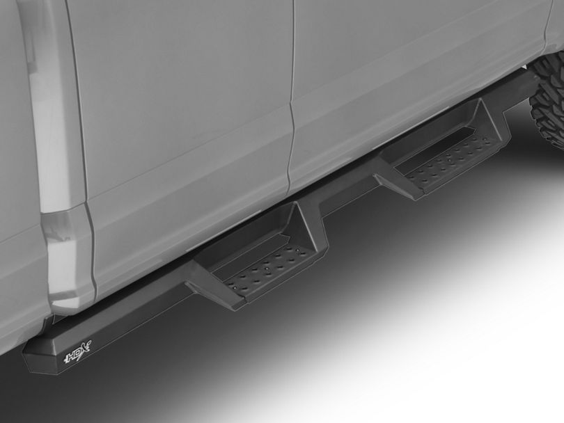 HDX Drop Nerf Side Step Bars - Textured Black (15-19 F-150 SuperCab, SuperCrew)
