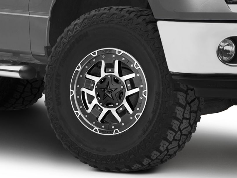 Rockstar XD827 RS3 Matte Black Machined 6-Lug Wheel - 17x8; 20mm Offset (09-14 F-150)