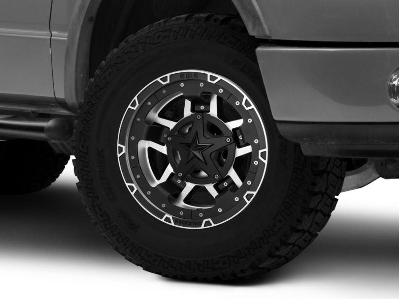 Rockstar XD827 RS3 Matte Black Machined 6-Lug Wheel - 17x9; -12mm Offset (04-08 F-150)