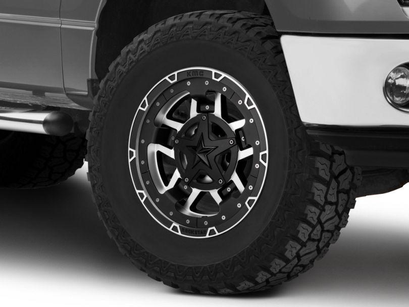 Rockstar XD827 RS3 Matte Black Machined 6-Lug Wheel - 17x9; -12mm Offset (09-14 F-150)