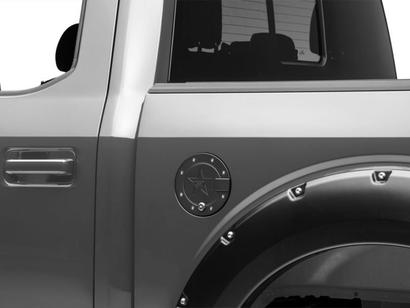 RBP RX-2 Locking Fuel Door; Black (15-20 F-150, Excluding Diesel & Raptor)