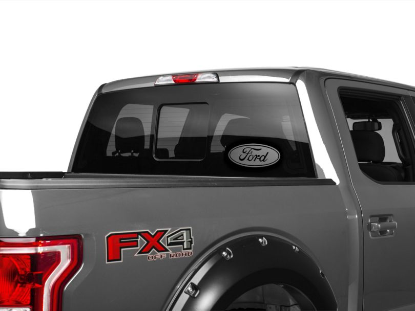 Silver Ford Oval - 12 in. (97-19 F-150)