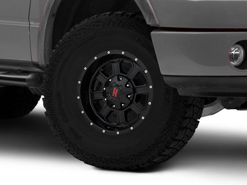 Havok Off-Road H101 Matte Black 6-Lug Wheel; 17x9; -12mm Offset (04-08 F-150)