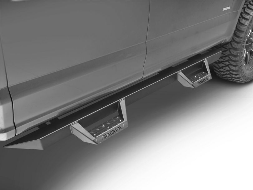 Magnum RT Cab Length Side Step Bars; Black (15-20 F-150 SuperCab, SuperCrew)