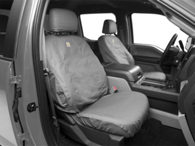 15 thru 20 F-150 Genuine Ford Carhartt Front Captain Chair Seat Covers GRAVEL