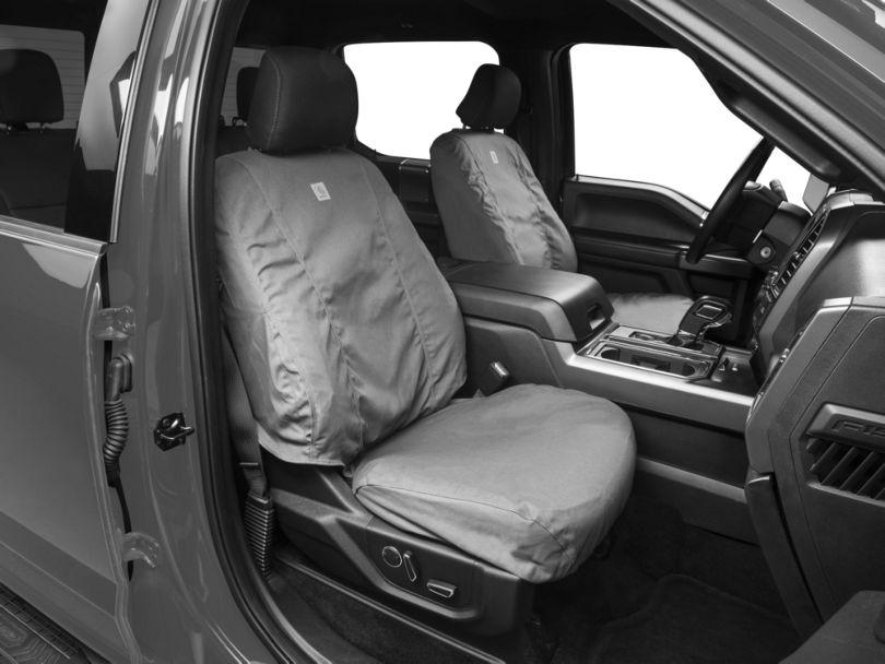 Covercraft Carhartt SeatSaver Front Seat Cover - Gravel (15-19 F-150 w/ Bucket Seats)