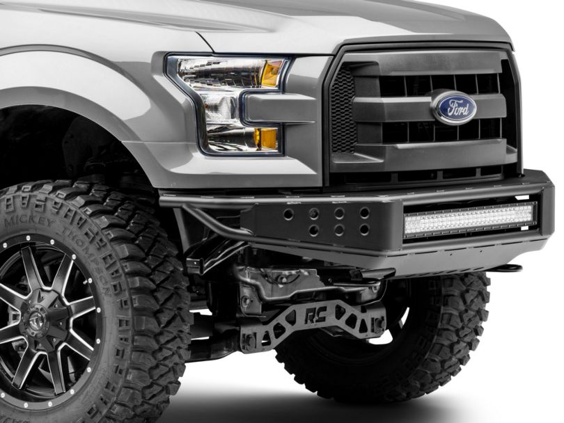 RedRock 4x4 Tubular Off-Road Front Bumper w/ 30 in. LED Light Bar (15-17 F-150, Excluding Raptor)