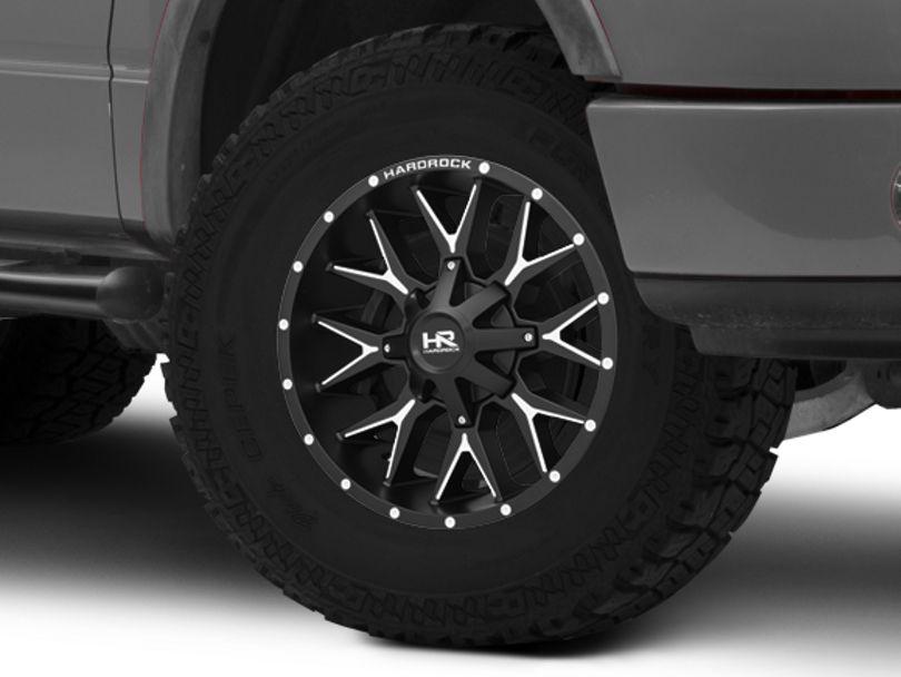 Hardrock Offroad H700 AFFLICTION Black Milled 6-Lug Wheel; 20x9; 0mm Offset (04-08 F-150)