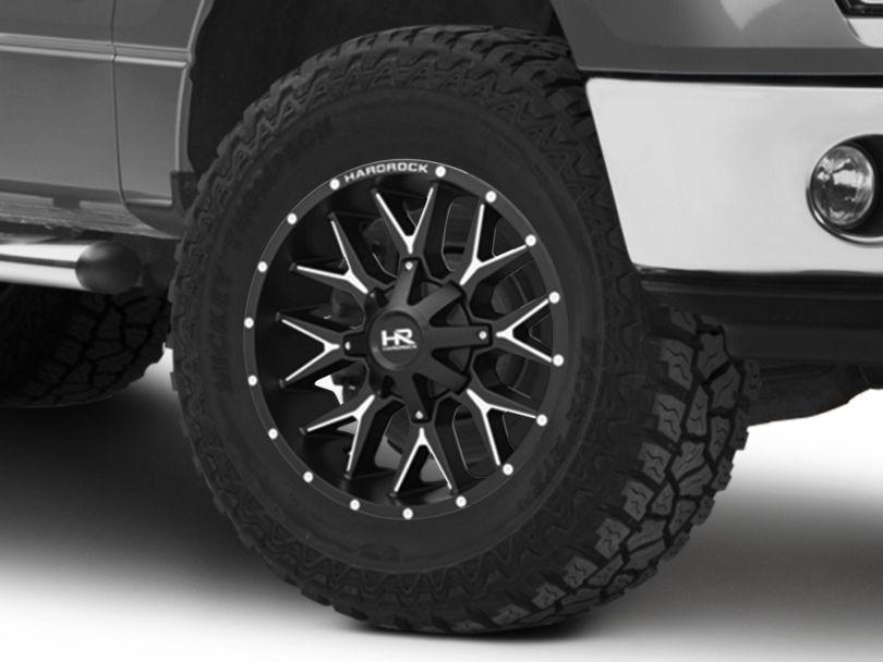 Hardrock Offroad H700 AFFLICTION Black Milled 6-Lug Wheel; 20x9; 0mm Offset (09-14 F-150)