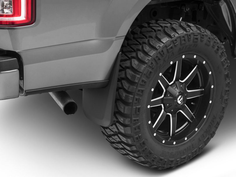 Husky Custom Molded Mud Guards; Front and Rear (15-20 F-150, Excluding Raptor)