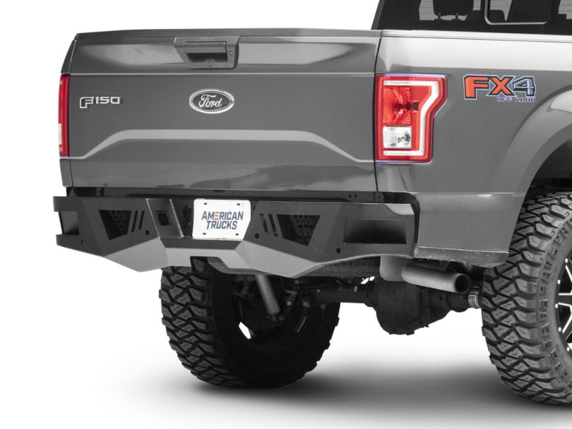 Armour Rear HD Bumper with Light Kit (15-20 F-150, Excluding Raptor)