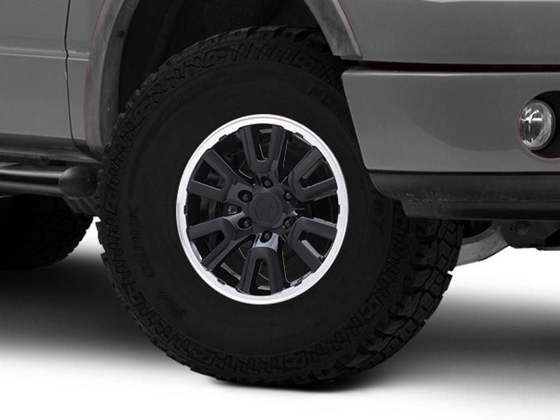 Gen1 Raptor Style Black 6-Lug Wheel; 17x8.5; 34mm Offset (04-08 F-150)